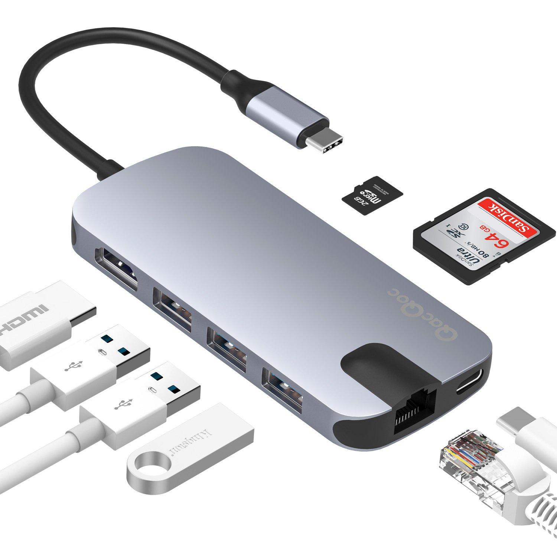 yan USB C Hub Ultra Slim 4 Port USB 3.0 Adapter for MacBook Pro /& All Type-C Devices