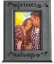 BELLA BUSTA - You Will Forever, be My Always Picture Frame - Engraved Leather Frame Gift for Couple (5