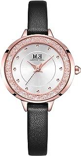 Waterproof Quartz Analog 3-Hand Watch,Classic and Elegant,Fashion ,Wrist Watch for Women by M.E (Pink&Silver-1096)