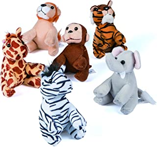 Assortment Suede Jungle Animal (1 Dozen) Zoo Party, Favors,, Gifts