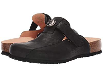 Think! Julia Hook-and-Loop Clog 85349 (Black) Women
