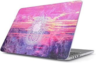 Glitbit Hard Case Cover Compatible with MacBook Air 13 inch Case Release 2018-2019, Model: A1932 with Retina Display and Touch ID Hamsa Fatima Mandala Henna Paisley Landscape Mountains Pattern