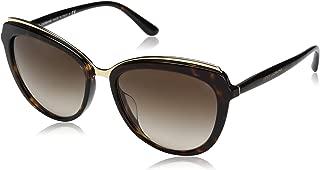 Women's Acetate Woman Cateye Sunglasses, Havana, 57.0 mm