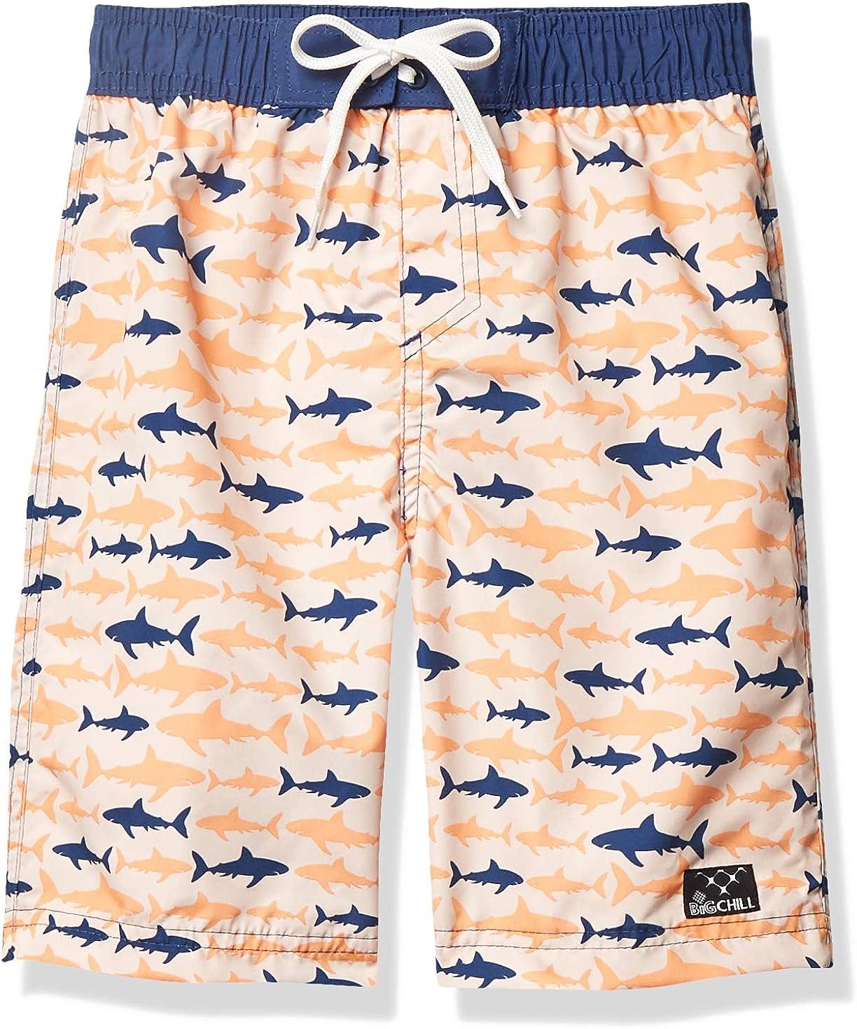 Big Chill Boys Big Printed Swim Trunks