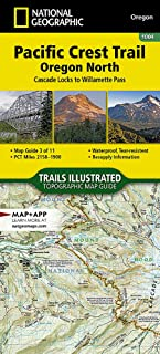 Pacific Crest Trail, Oregon North [Cascade Locks to Willamette Pass] (National Geographic Topographic Map Guide)