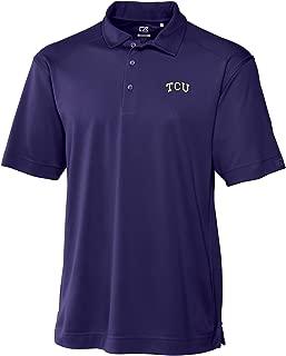 Cutter & Buck NCAA TCU Horned Frogs Men's CB Drytec Genre Polo Tee, College Purple