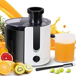 Aigostar Grape - Wide Mouth Juicers, Dual Speed Vegetable Juicer Extractor, Centrifugal Juicer Machine Easy Clean for Celery, Whole Fruit, Anti-drip, Stainless Steel and BPA-Free