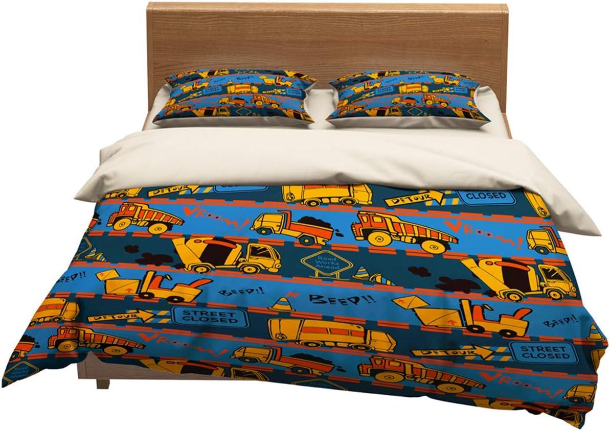 lwfushi Cars Duvet Cover for Kids Vibrant Colored Design Cartoon Bedding Set 100/% Superfine/Fiber Great Gift for Girls Boys Teens Bed Set 3Pcs 1 Duvet Cover 2 Pillowcase Twin Full Queen King Size