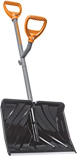 ErgieShovel ERG-SNSH18 18-Inch Impact Resistant Blade Push/Scoop Combination Snow Shovel, Orange