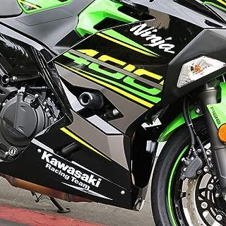 Shogun Motorsports 18-19 Kawasaki EX400ABS 3 Piece No Cut Slider Kit (Black)