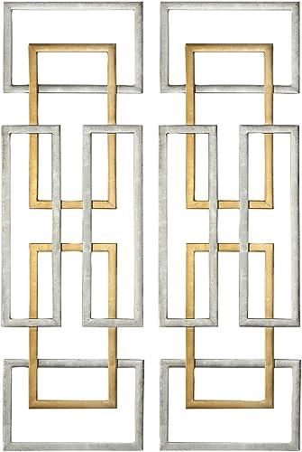 "2021 Uttermost Aerin 50 3/4"" H Geometric sale Metal Wall Art Set of discount 2 online sale"