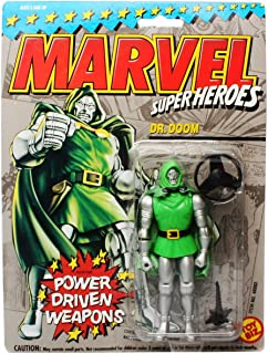 Toy Biz Marvel Super Heroes Dr. Doom (Power Driven Weapons) Action Figure 4.75 Inches