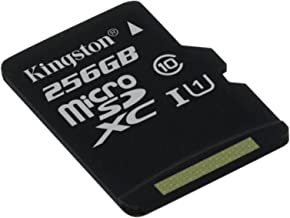 Kingston Canvas Select  SDCS 256GBSP  MicroSD Class UHS-I Speeds MB s Read  Card only  Bring Your Videos Life