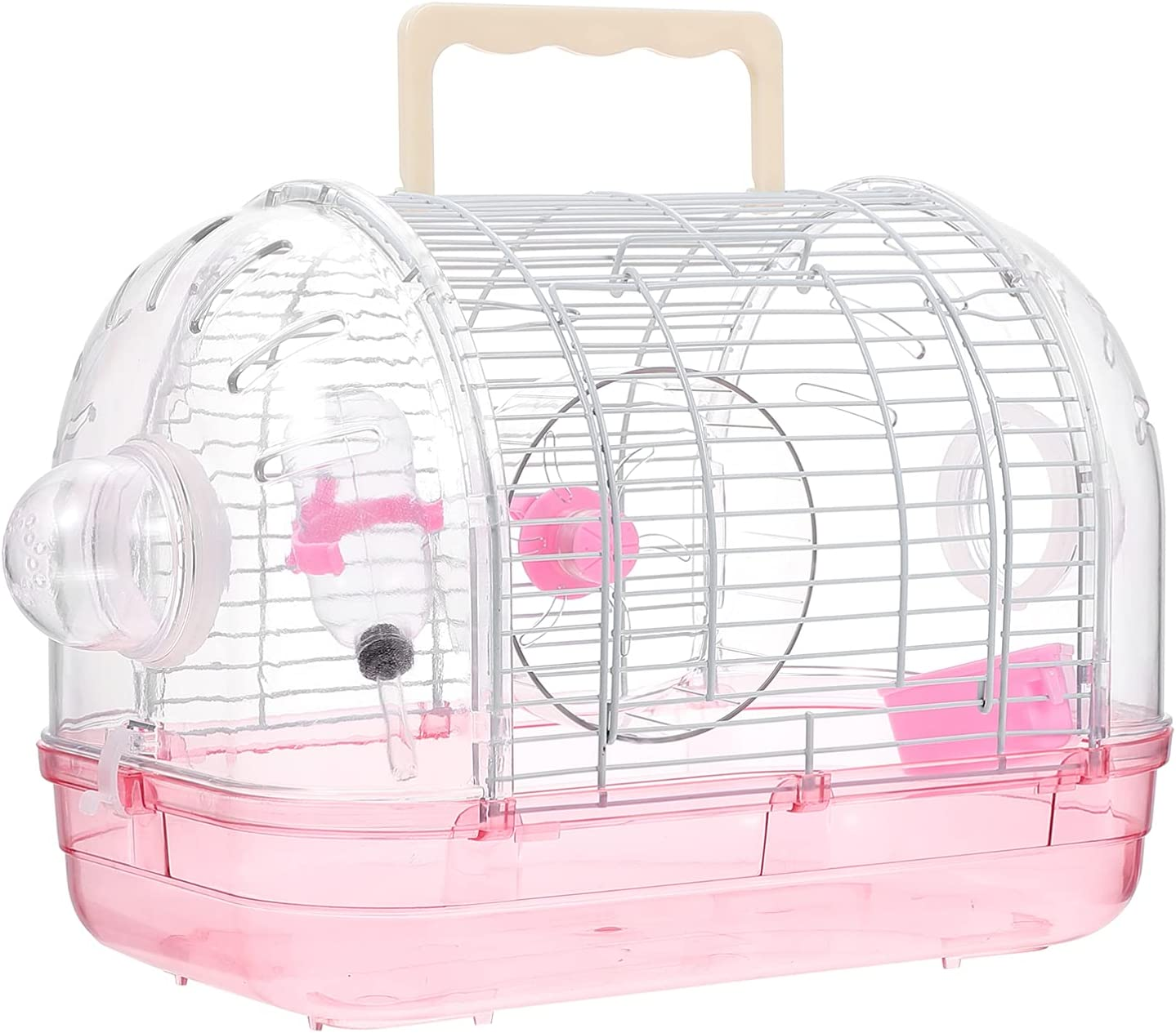 POPETPOP Transparent Hamster Cage Shipping included Pet Hamst Animal Hideout Max 44% OFF Small