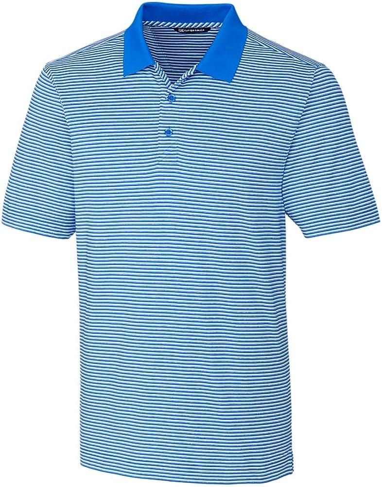 Cutter & Buck BCK00113 Men's Big and Tall Forge Polo Tonal Stripe Shirt, Digital - LT