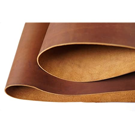 Italian Imported Firm Vegetable Tanned Full Grain Tooling Leather Thick Cowhide Handmade Stiff Leather Material for Craft//Tooling//Caving//Hobby Workshop