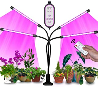 Sunrich Grow Light for Indoor Plant 80W Full Spectrum Led Growing Lamps with Remote Control, On/Off 4/8/12H Timer, 10 Dimm...