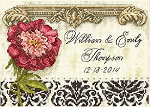 Dimensions Gold Collection, Elegant Wedding Record Counted Cross Stitch Kit, 18 Count White Aida, 7'' x 5''