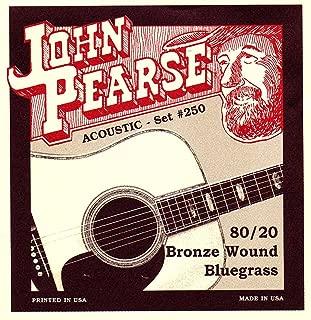 John Pearse P250 Bronze Acoustic Guitar Strings, Medium