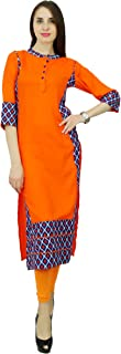 Phagun Women's Rayon Bollywood Designer Ikat Kurta Ethnic Dress Top Tunic Kurti