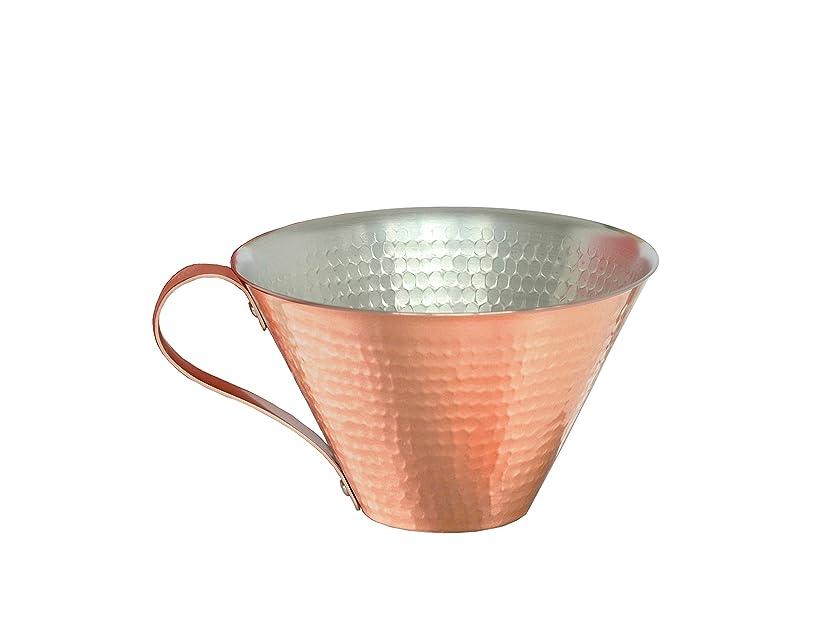 まともなイブスロー織田幸銅器 RED&WHITEアイスコーヒーカップ【槌目】
