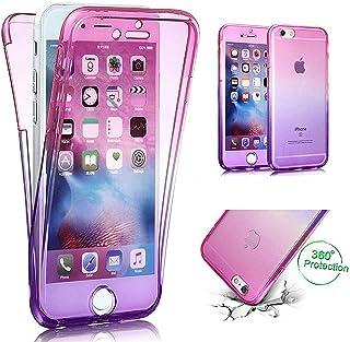 7d148de947c iPhone 6S móvil, iPhone 6 Funda, ikasus iPhone 6S/6 TPU Full Body 360 °  transparente Cover – Carcasa de silicona, Gradient color degradado TPU  Silicona ...