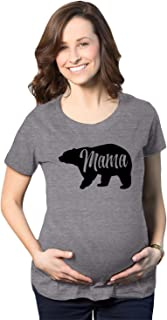 Maternity Mama Bear Funny Pregnancy Tshirt Novelty Gift Wild Animal Family Tee