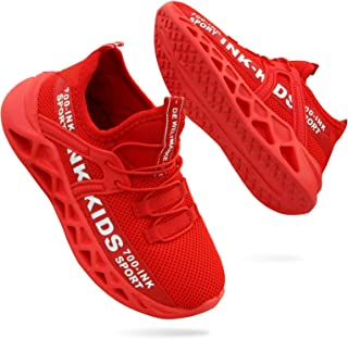Boys Girls Shoes Kids Tennis Running Sneakers Lightweight Mesh Breathable Athletic Shoes