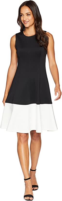 Color Block Fit & Flare Dress CD8M14EL