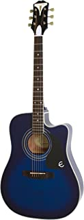 Epiphone 6 String PRO-1 ULTRA Acoustic/Electric, Trans Blue (EEPUTLCH1)