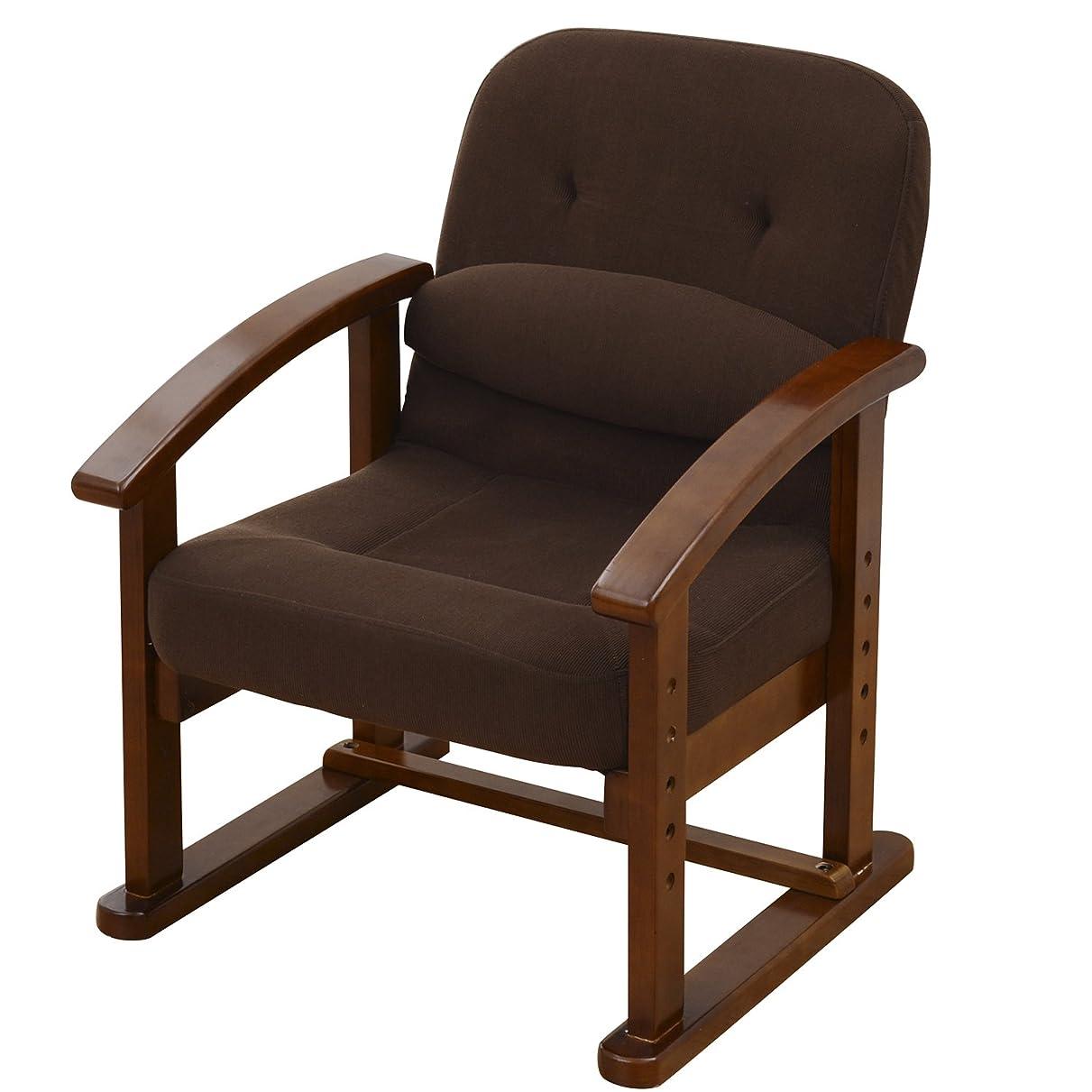 アシスタント民主主義音声山善 組立て要らず 立ち上がり楽々高座椅子 防幕付 腰あて付 モカブラウン KMZC-55(MBR)BB