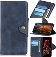 Wuzixi Case for LG K40. Anti-Scratch, Flip Case Side suction Kickstand Feature Card Slots Case, PU Leather Folio Cover for LG K40.Blue