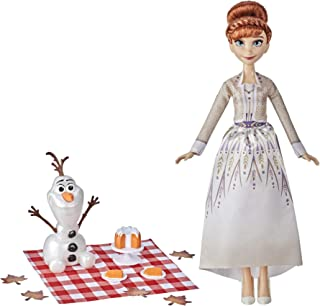 Disney Frozen 2 Anna and Olaf's Autumn Picnic, Olaf Doll, Anna Doll with Dress and Fashion Doll Accessories, Toy for Kids ...