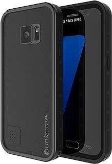 Punkcase S7 Waterproof Case [StudStar Series] [Slim Fit] [IP68 Certified] [Shockproof] [Dirtproof] [Snowproof] Armor Cover Compatible W/Samsung Galaxy S7 [Black]