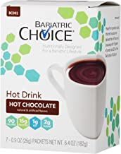 Bariatric Choice High Protein Drink/Instant Hot Drink Mix, Hot Chocolate (7 Servings/Box) - Low-Carb, Low Fat