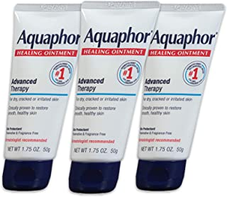Aquaphor Healing Ointment - Protectant for Cracked Skin - Hands, Heels, Elbows, Lips - 1.75 oz. Tube (Pack of 3) (New Version)