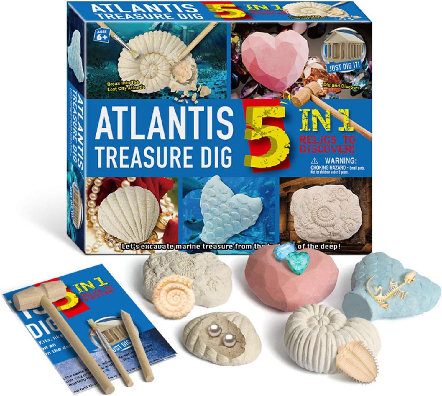 Micnaron Children Phoenix Mall DIY Assembly Selling rankings Archaeology Sea Toy Atlantis King