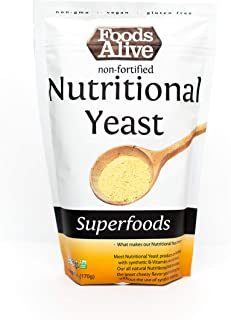 Nutritional Yeast Flakes (6oz) | Non-Fortified, Plant Based Protein, Vegan Cheese Powder Substitute