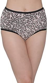 Clovia Women's Cotton High Waist Animal Print Hipster Panty
