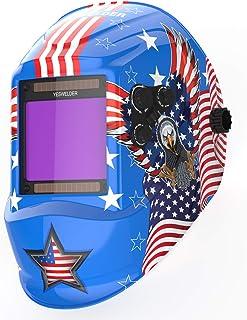 YESWELDER Large Viewing Screen True Color Solar Auto Darkening Welding Helmet,4 Arc..