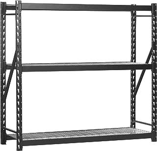 Muscle Rack ERZ772472WL3 Black Heavy Duty Steel Welded Storage Rack, 3 Shelves, 1,000 lb. Capacity per Shelf, 72