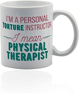 Physical Therapy Gifts 11 oz. white ceramic cup. Gifts for physical therapists.