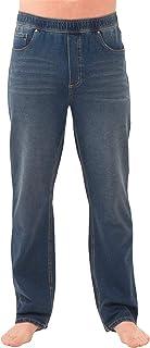 PajamaJeans Mens Jeans Stretch Denim - Men Elastic Waist Pants