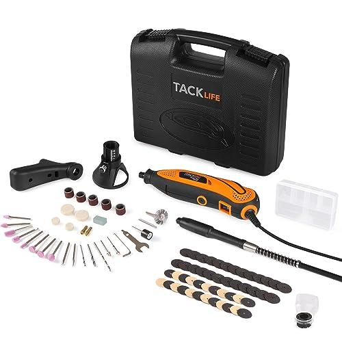 Amoladora eléctrica, Tacklife Mini amoladora Avanzado Profesional Kit de herramientas rotatorias multifunción con 80 accesorios