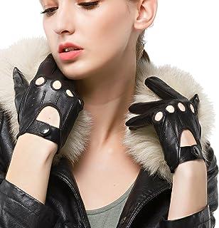 Nappaglo donne sta guidando i guanti di cuoio classico di pelle piena dito moto ampie unlined guanti (touchscreen o non to...