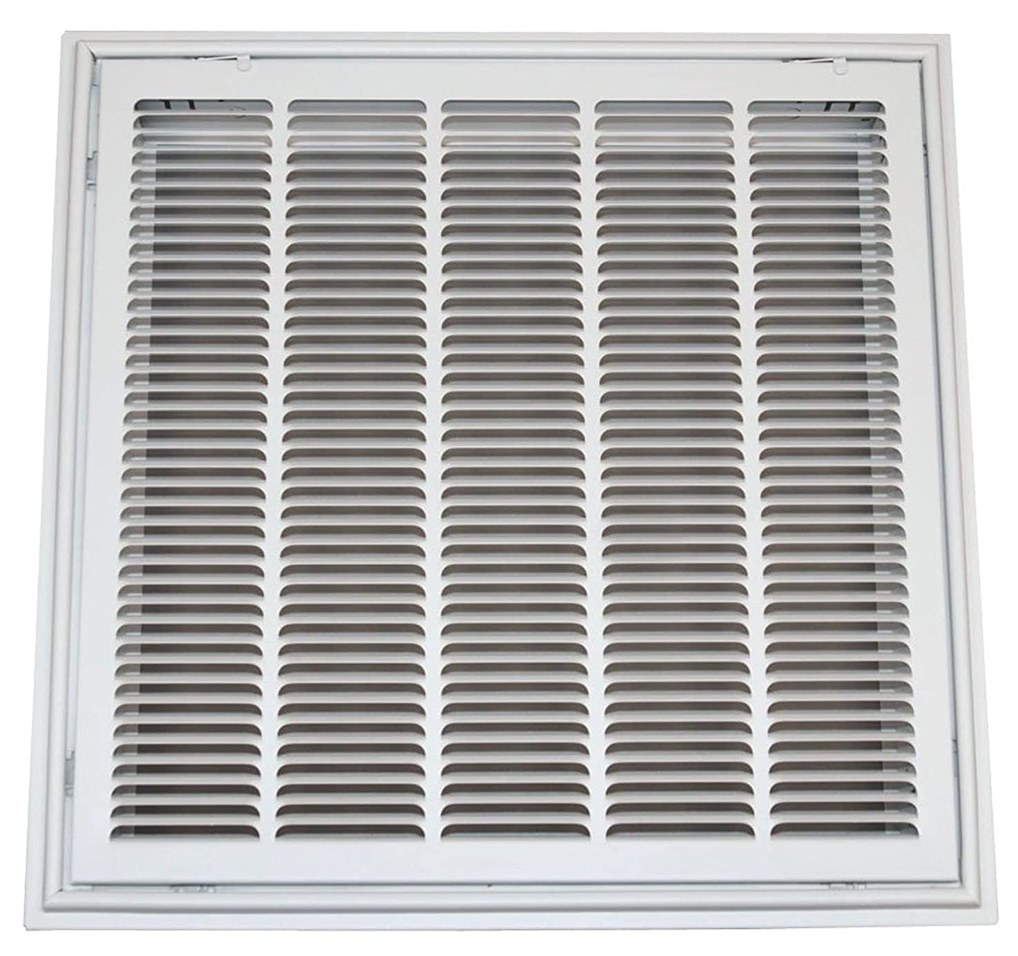 Speedi-Grille TB-SFG 24-Inch by 24-Inch White Drop Ceiling T-Bar Stamped Face Return Air Filter Grille