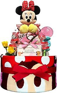 KanonBabys おむつケーキ [ 女の子向け / ディズニー : ミニー / 2段 ] パンパースS22枚 ( 出産祝いに大人気 ) ダイパーケーキ ギフト 誕生日プレゼント 赤ちゃんの内祝い にもおすすめ