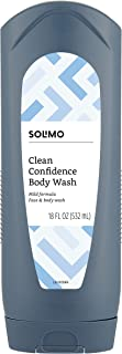 Amazon Brand - Solimo Men's Body Wash, Clean Confidence, 18 Fluid Ounce
