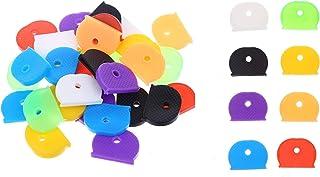 Mein HERZ 100 stycken nyckelkepssset, silikon nyckelringar, töjbar nyckelring, flexibla nyckelskydd för enkel identifierin...