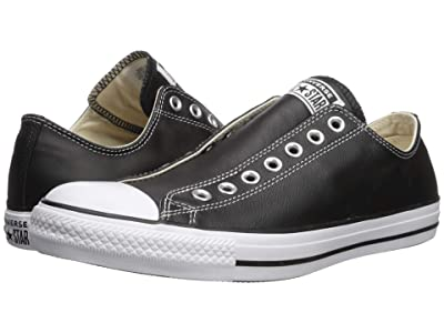 Converse Chuck Taylor All Star Slip Basic Leather Slip (Black/White/Black) Shoes